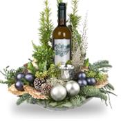 Kerststuk met witte wijn