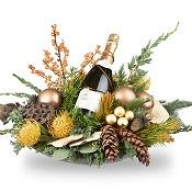Kerststuk feestelijk opgemaakt