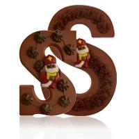 Sierlijke Chocoladeletter - S