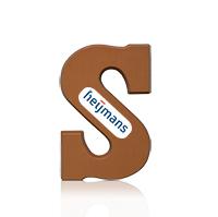 Chocoladeletter + logo 10 stuks