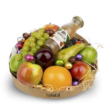 Fruitmand Vrolijk Pasen