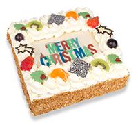 Slagroomtaart Merry Christmas