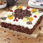 Slagroomtaart royaal chocolade
