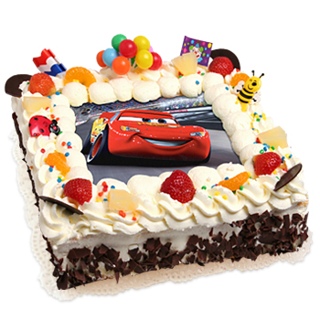 Cars taart - Decoratie slaapkamer jongen jaar ...