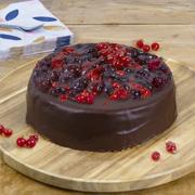 Chocolade-bosvruchten taart